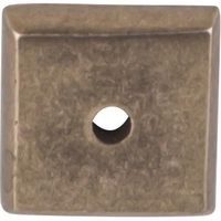 "Top Knobs - Aspen - Solid Bronze 7/8"" Square Backplate in Light Bronze"