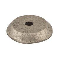 "Top Knobs - Aspen - Solid Bronze 7/8"" Diameter Round Backplate in Silicon Bronze Light"