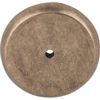 "Top Knobs - Aspen - Solid Bronze 1 3/4"" Diameter Round Backplate in Light Bronze"
