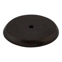 """Top Knobs - Aspen - Solid Bronze 1 3/4"""" Diameter Round Backplate in Medium Bronze"""