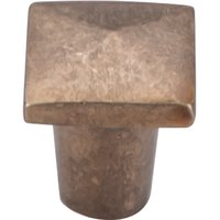 "Top Knobs - Aspen - Solid Bronze 3/4"" Square Knob in Light Bronze"