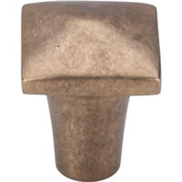 "Top Knobs - Aspen - Solid Bronze 7/8"" Square Knob in Light Bronze"
