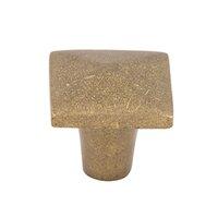 "Top Knobs - Aspen - Solid Bronze 1 1/4"" Square Knob in Light Bronze"