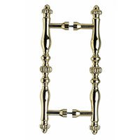 """Top Knobs - Somerset - Melon Oversized 8"""" Centers Back to Back Door Pulls in Polished Brass 12"""" O/A"""