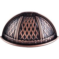 "Top Knobs - Trevi - Trevi - 2 1/2"" Centers Cup Pull in Tuscan Bronze"