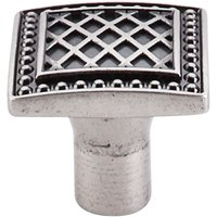 "Top Knobs - Trevi - Trevi - 1 1/4"" Square Knob in Pewter Antique"