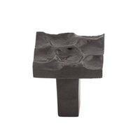 """Top Knobs - Cobblestone - 1 1/8"""" Small Square Knob in Coal Black"""