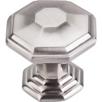 "Top Knobs - Chareau - 1 1/2"" Diameter Chalet Knob in Brushed Satin Nickel"