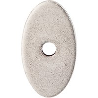 """Top Knobs - Mercer - 1 1/4"""" x 3/4"""" Small Oval Knob Backplate in Pewter Antique"""