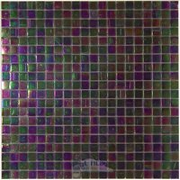 "Vicenza Mosaico Glass Tiles - Phoenix 5/8"" Glass - 5/8"" Glass Film-Faced Sheets in Midnight"