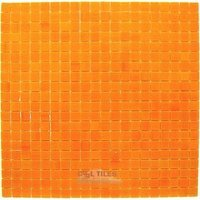 "Vicenza Mosaico Glass Tiles - Lumina 5/8"" Glass - 5/8"" Glass Film-Faced Sheets in Orange Morning"