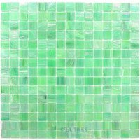 "Vicenza Mosaico Glass Tiles - 3/4"" Iride Glass - 3/4"" Glass Film-Faced Sheets in Spring Glow"