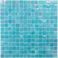 "Vicenza Mosaico Glass Tiles - 3/4"" Iride Glass - 3/4"" Glass Film-Faced Sheets in Island Cove"