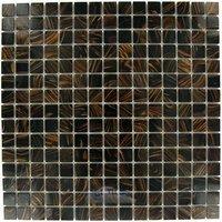 "Illusion Glass Tile - Glass Mosaics - 3/4"" x 3/4"" Glass Mosaic Tile in Chocolate Havana"