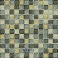 "Illusion Glass Tile - Desert Mirage - 1"" Mosaic Tile in Palo Verde"