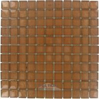 """Illusion Glass Tile - Sienna - 7/8"""" x 7/8"""" Glass Mosaic Tile in Sienna"""
