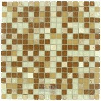 """Illusion Glass Tile - Stone and Glass - 5/8"""" x 5/8"""" Glass and Stone Mosaic Tile in Tumble Rain"""