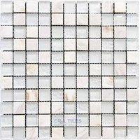 "Illusion Glass Tile - North Shore - 1"" Mosaic Tile in Sugar Island"