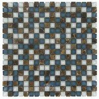 "Illusion Glass Tile - Montego Bay - 5/8"" x 5/8"" Stone & Glass Mosaic Tile in Montego Bay"