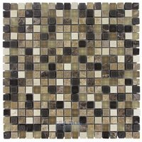 """Illusion Glass Tile - Stone and Glass - 5/8"""" x 5/8"""" Stone & Glass Mosaic Tile in Rocky Road"""