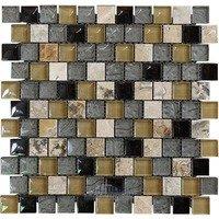 "Illusion Glass Tile - Inspiration - 1"" x 1"" Brickset Mosaic Tile in Quantum"