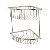 Valsan - Essentials - Medium Double Corner Wire Soap Basket in Chrome