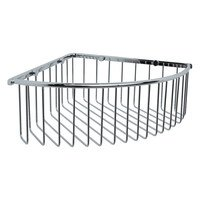 Valsan - Essentials - Large Deep Corner Basket in Chrome