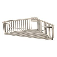 Valsan - Essentials - Large Deep Detachable Corner Basket with Round Rungs in Chrome
