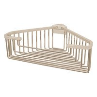 Valsan - Essentials - Large Deep Detachable Corner Basket with Square Rungss in Chrome