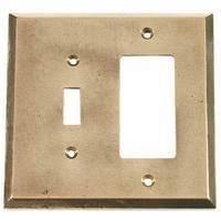 Verona Bronze Switchplates - Verona Wallplate - Single Toggle Single Rocker Combo Switchplate in Natural Red Bronze