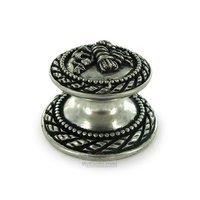 Vicenza Hardware - Sforza - Round Bouquet Knob in Satin Nickel