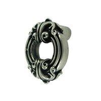Vicenza Hardware - Sforza - Large Ornate Knob in Satin Nickel