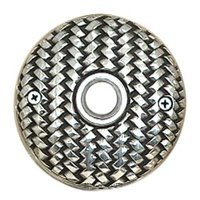 Vicenza Hardware - Door Bell - Door Bells Collection Round Cestino Weave Design in Satin Nickel