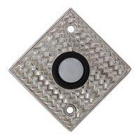 Vicenza Hardware - Door Bell - Door Bells Collection Cestino Weave Design in Satin Nickel