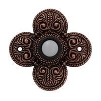Vicenza Hardware - Door Bell - Four Leaf Clover Napoli Design in Satin Nickel