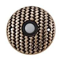 Vicenza Hardware - Door Bell - Door Bells Collection Round Cestino Weave Design in Satin Nickel