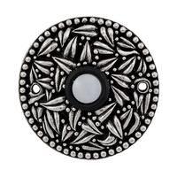 Vicenza Hardware - San Michele - Round Floral Design in Satin Nickel