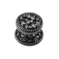 "Vicenza Hardware - San Michele - Small Floral Knob 1"" in Satin Nickel"
