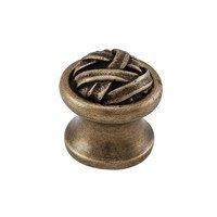 "Vicenza Hardware - Cilento - Small Mummy Wrap Knob 1"" in Satin Nickel"