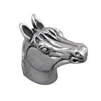 Vicenza Hardware - Equestre - Small Horse Head Knob in Satin Nickel