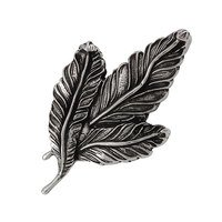 Vicenza Hardware - Carlotta - Large Leaf Knob in Satin Nickel