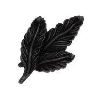 Vicenza Hardware - Carlotta - Small Leaf Knob in Satin Nickel