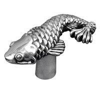Vicenza Hardware - Pollino - Fish Knob in Satin Nickel