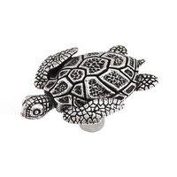 Vicenza Hardware - Pollino - Turtle Knob in Satin Nickel