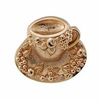 Vicenza Hardware - Fiori - Nature - Teacup Tazza Knob in Satin Nickel