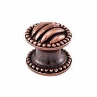 "Vicenza Hardware - Sanzio - Small Ribbed Knob 1"" in Satin Nickel"