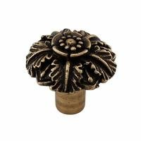 "Vicenza Hardware - Carlotta - Large Flower Knob 1 1/4"" in Satin Nickel"