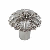 "Vicenza Hardware - Carlotta - Large Flower Knob 1 1/4"" in Satin Nickel"