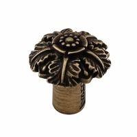 "Vicenza Hardware - Carlotta - Small Flower Knob 1 1/16"" in Satin Nickel"