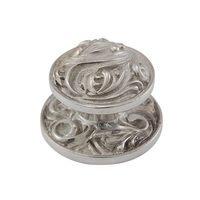 Vicenza Hardware - Liscio - Large Fancy Round Knob in Satin Nickel
